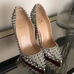 Spiked Christian Louboutin heels size 371/2